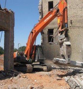 Демонтаж, снос зданий  и трубопроводов