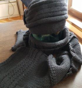 Комплект шапка и шарф. Лапланда.