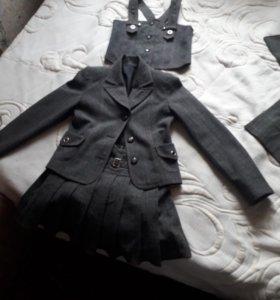 школьная форма(юбка жилетка брюки пиджак) и платье
