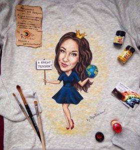 Портрет на футболке