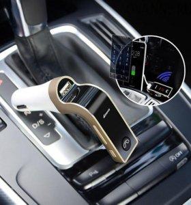 Фм модулятор c Bluetooth в авто