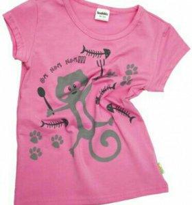 Новая футболка на девочку,Россия,134,140,146 разме