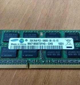 Оперативная память для ноутбука DDR3 SO-DIMM 2+2=4