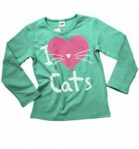 Новая футболка на девочку,Россия,116,134 размер