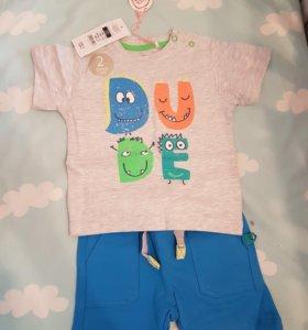 Комплект футболка шорты детский