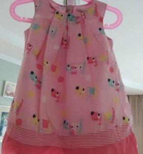 Детское летние платье размер 86
