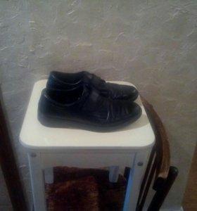 Туфли, подростковые, из натуральной кожи размер 38