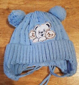 Шапка для новорожденного зима