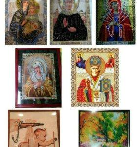 Картины из страз