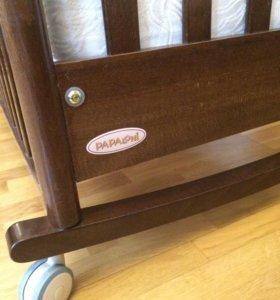 Кроватка Papaloni, матрац и постель в подарок