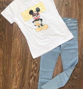Новая маечка и джинсы