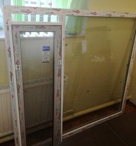 Окна пластиковые новые (готовые)