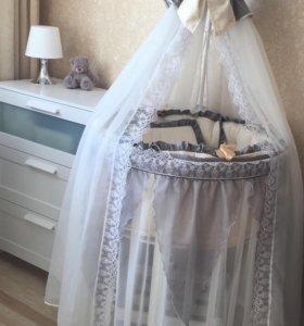 Бортики на детскую кровать и матрас