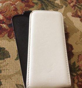 Чехол-книжка на IPhone 📱 5/5s белый, под кожу.