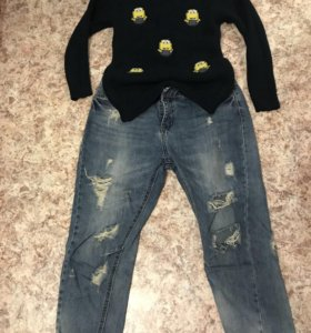 Кофта и джинсы