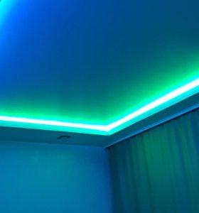 Натяжной потолок матовый (цветной) MSD