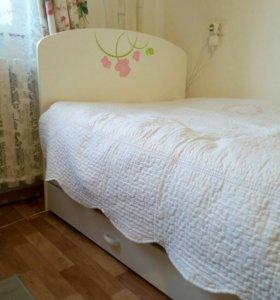 """Кровать """"Роза"""" 1.5-спальная для девочки."""