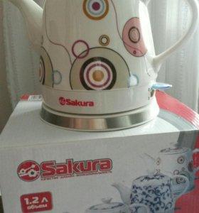 Чайник керамический электрический (новый)