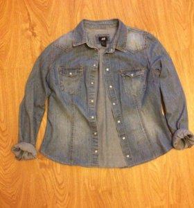 Джинсовая куртка/рубашка (джинсовка) H&M