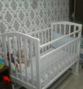 Детская кроватка. Матрас детский зима/лето