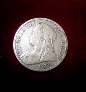 1/2 кроны 1899 год Англия