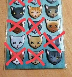 Наклейки котики