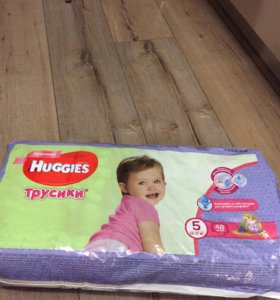 Трусики-подгузники Huggies для девочек 5 (13-17 кг