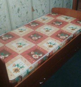 Кровать полуторка с матрасом