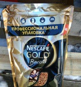 Кофе молотый в растворимом Nescafe Gold Barista