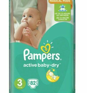Pampers active baby-dry 3