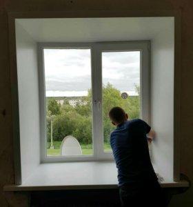 Установка пластиковых окон,балконов