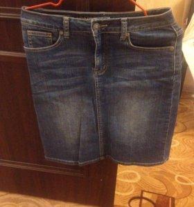Юбка джинсовая и джинсы 42 р.
