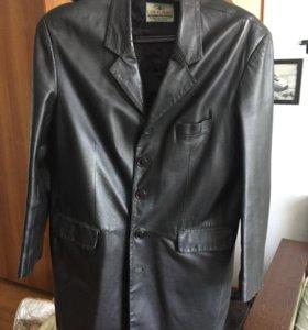 Пиджак мужской кожаный удлиненный
