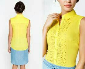 Желтая блузка новая 42 размер