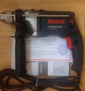 Дрель ударная Bosch GSB 16 RE (без кейса)