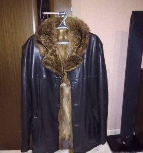 натуральная кожаная куртка мужская с мехом