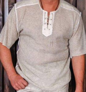 Рубашка льняная мужская