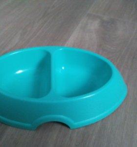 Тарелка миска для кошки
