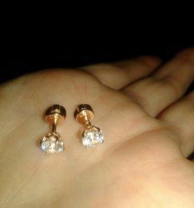 Изделие серебрянное925 пробы, покрытое золотом