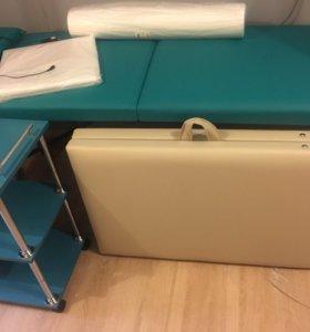 Бежевый массажный стол( ПР -к4)