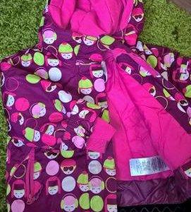 Комплект для девочки - куртка, штаны и шапочка
