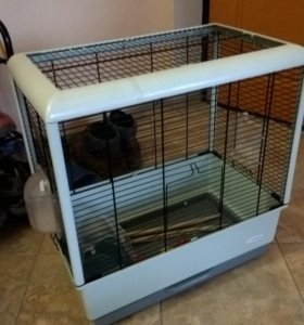 Клетка для попугаев и птиц Ферпласт Piano 3 open