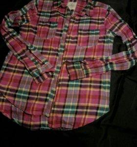 Рубашка в клетку теплая