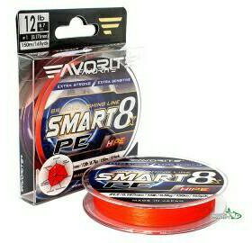 Шнур Favorite Smart PE 8X 150m red orange#1,2#1,5
