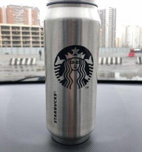 Вакуумная термокружка Starbucks алюминиевая 500 мл