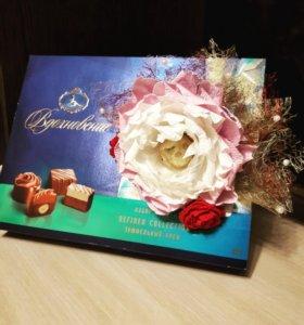 Оформление подарков (коробок конфет, чая)