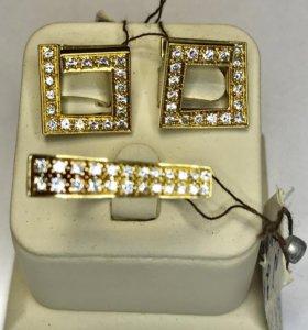 Новый комплект с бриллиантами