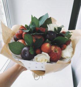 Букеты из фруктов и овощей
