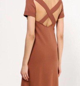 Новое платье кирпичного цвета