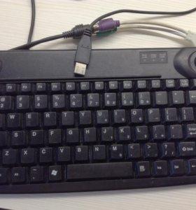 Клавиатура с трекболом